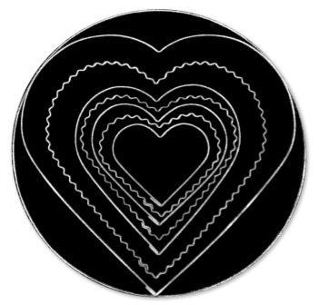 T/P CUTTER  PLAIN SCALLOPED HEART
