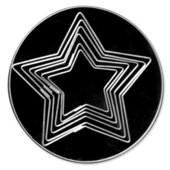 S/S CUTTER PLAIN 5 POINT STAR