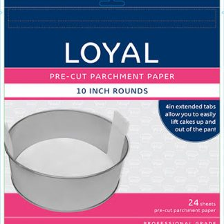 PRE-CUT PAPER WITH TABS RND 250mm/10 inch