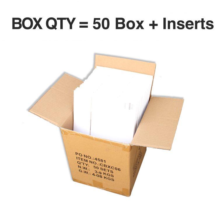 6 CAVITY CUPCAKE BOX + INSERT