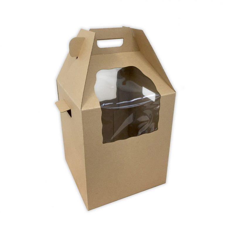 HEAVY DUTY TALL CAKE CARRY BOX + HANDLE 12x12x14(H) in