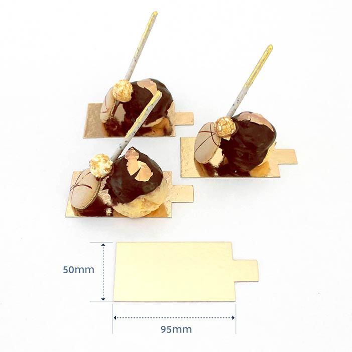 1mm DESSERT BOARD + TAB REC 95x55mm GOLD