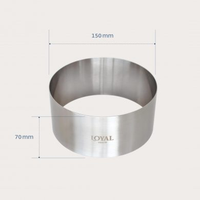 150mm FOOD/STACKER RING S/S