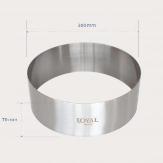 200mm FOOD/STACKER RING S/S