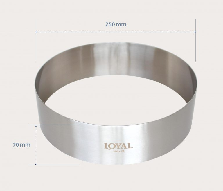 250mm FOOD/STACKER RING S/S