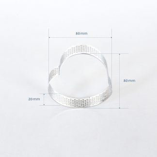 80mm PERFORATED RING S/S