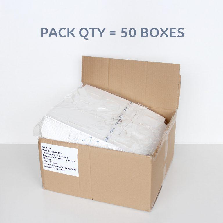 12 CAVITY CUPCAKE BOX + INSERT