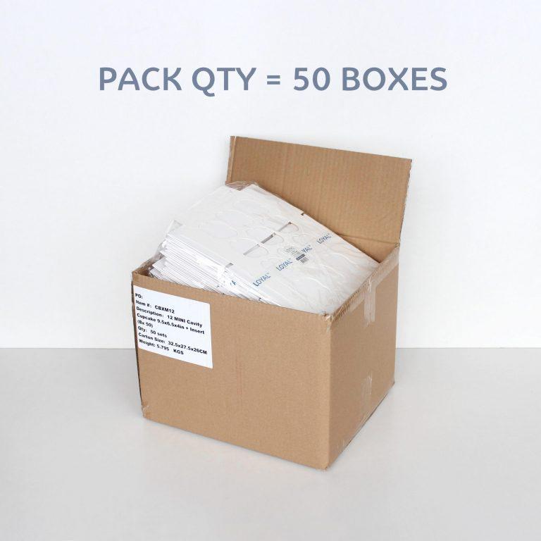 12 CAVITY MINI CUPCAKE BOX + INSERT
