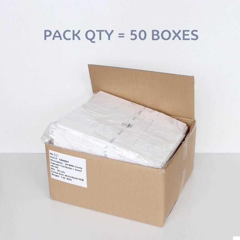 24 CAVITY MINI CUPCAKE BOX + INSERT