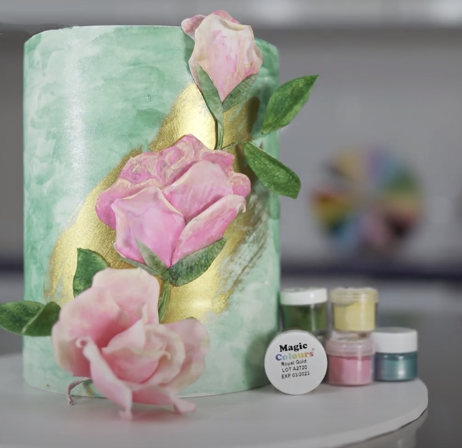 How to create a Painted Rose Cake